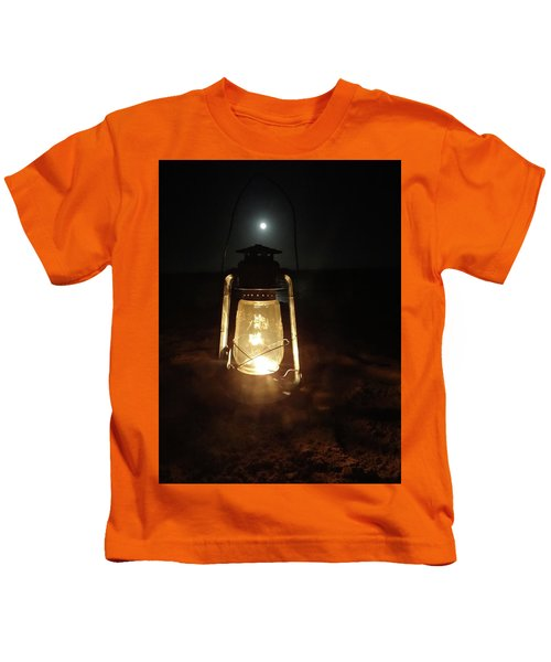 Kerosine Lantern In The Moonlight Kids T-Shirt