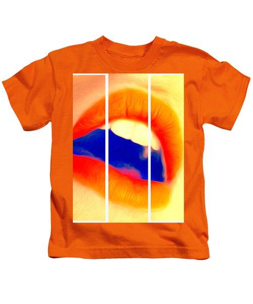Kiss Me-triptych Kids T-Shirt