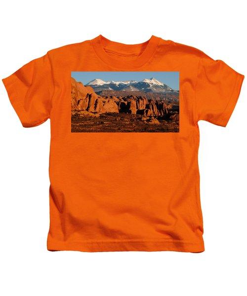 La Sal Mountains Kids T-Shirt