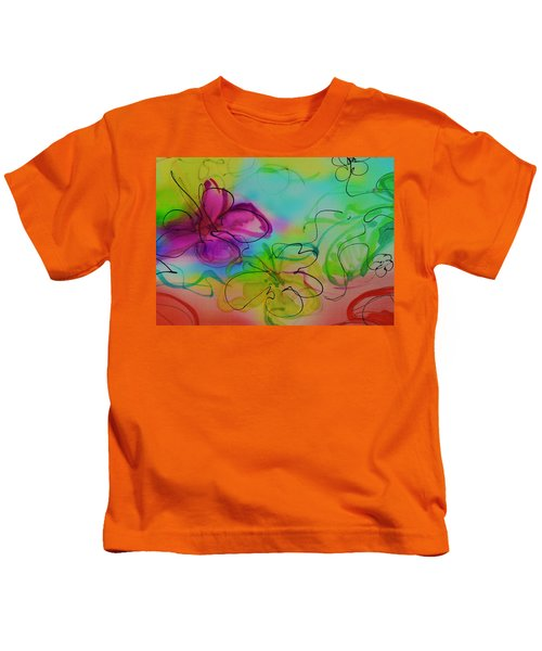 Large Flower 2 Kids T-Shirt