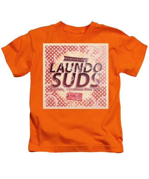 Laundo Soap Suds Advertising Kids T-Shirt