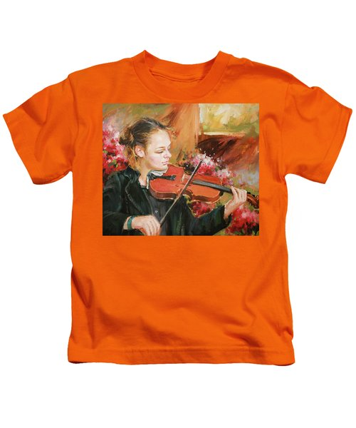 Learning The Violin Kids T-Shirt