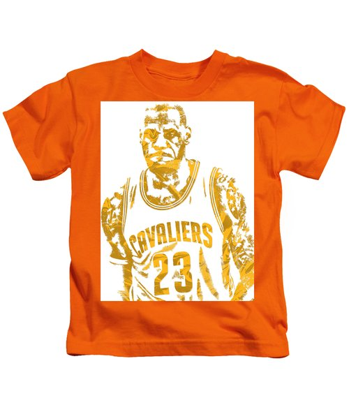 Lebron James Cleveland Cavaliers Pixel Art 10 Kids T-Shirt
