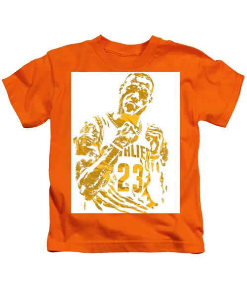 Lebron James Cleveland Cavaliers Pixel Art 9 Kids T-Shirt