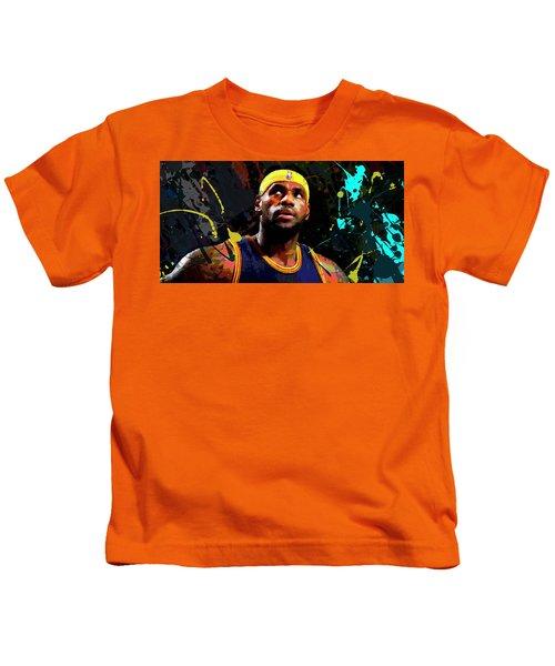 Lebron Kids T-Shirt by Richard Day