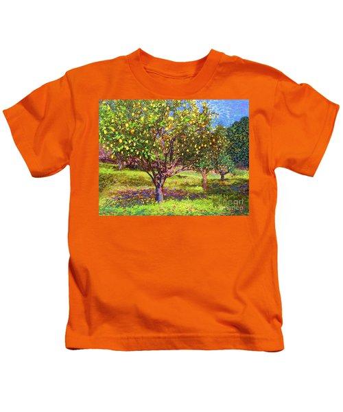 Lemon Grove Of Citrus Fruit Trees Kids T-Shirt
