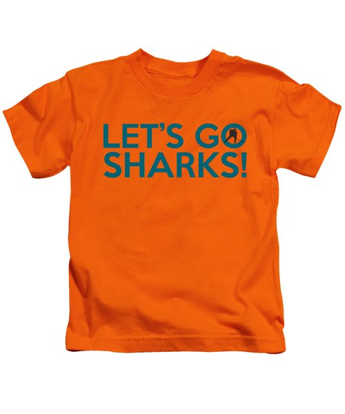 Let's Go Sharks Kids T-Shirt by Florian Rodarte