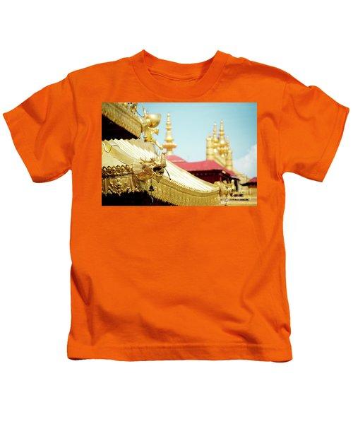 Lhasa Jokhang Temple Fragment Tibet Kids T-Shirt