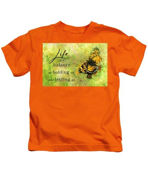 Life Is A Balance Kids T-Shirt