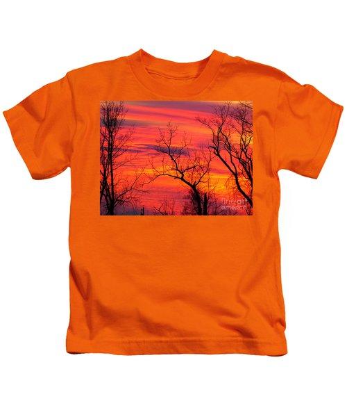 Little More Color At Sunset Kids T-Shirt