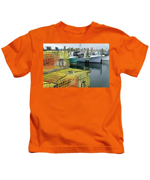 Lobster Traps In Galilee Kids T-Shirt
