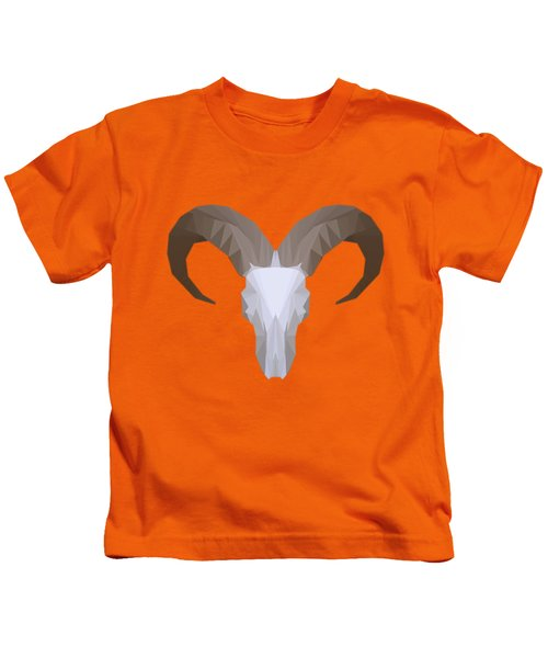 Low Poly Aoudad Kids T-Shirt
