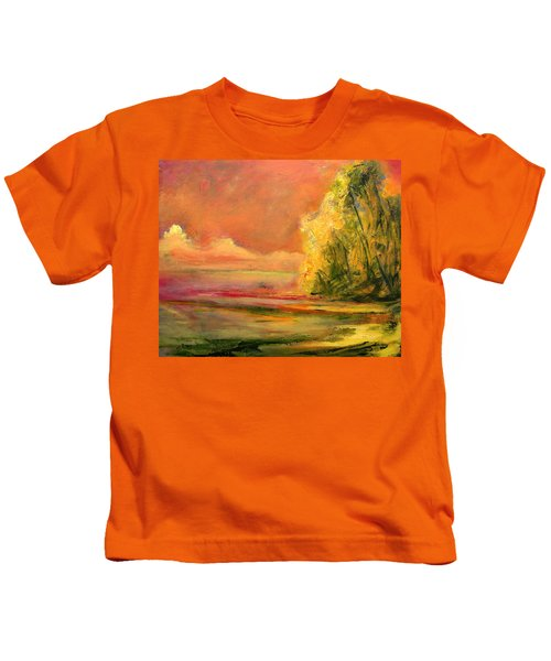 Luminous Sunset 2-16-06 Julianne Felton Kids T-Shirt