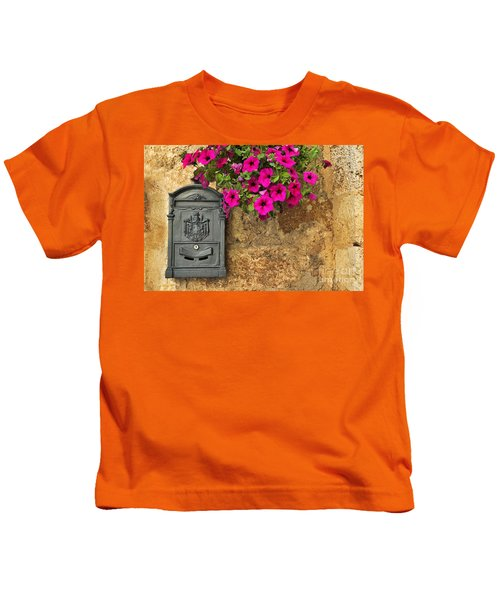 Mailbox With Petunias Kids T-Shirt