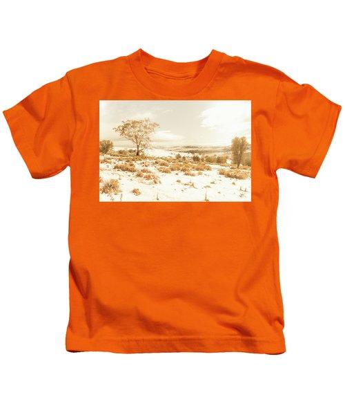 Majestic Scenes From Snowy Tasmania Kids T-Shirt