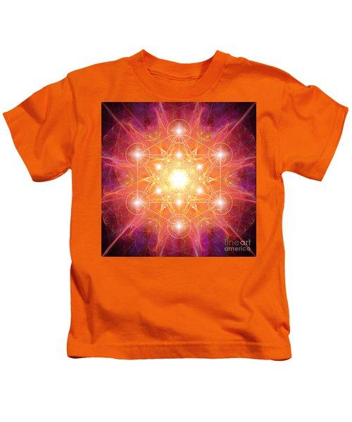 Metatron's Cube Shiny Kids T-Shirt
