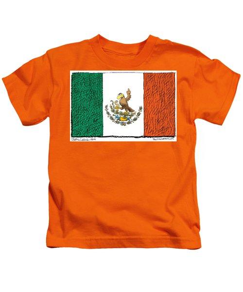 Mexico Flips Bird Kids T-Shirt