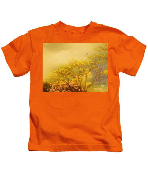 Misty Yellow Hue -poui Kids T-Shirt