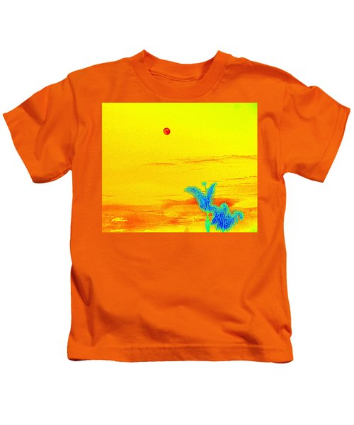 Moon And Two Palms Kids T-Shirt