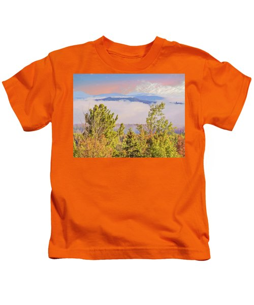 Morning Mountain View Northern New Hampshire. Kids T-Shirt