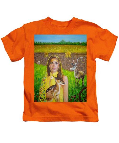 Mother Goddess Ker - Lammas Kids T-Shirt