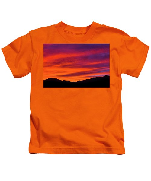 Mount Franklin Purple Sunset Kids T-Shirt