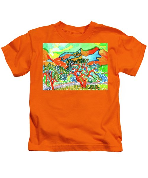 Mountains At Collioure Kids T-Shirt