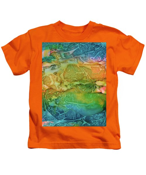 Mountains, Trees, Icy Seas Kids T-Shirt