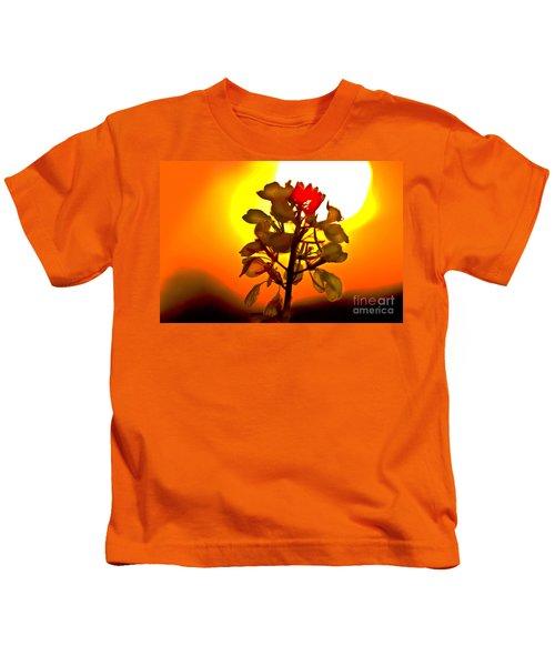 Mustard Sunset Kids T-Shirt