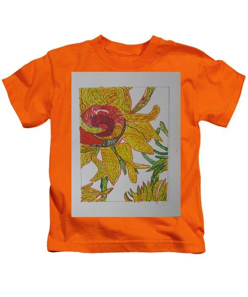 My Version Of A Van Gogh Sunflower Kids T-Shirt