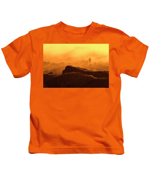 mystical view from Mt bromo Kids T-Shirt