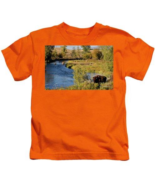 National Bison Range Kids T-Shirt