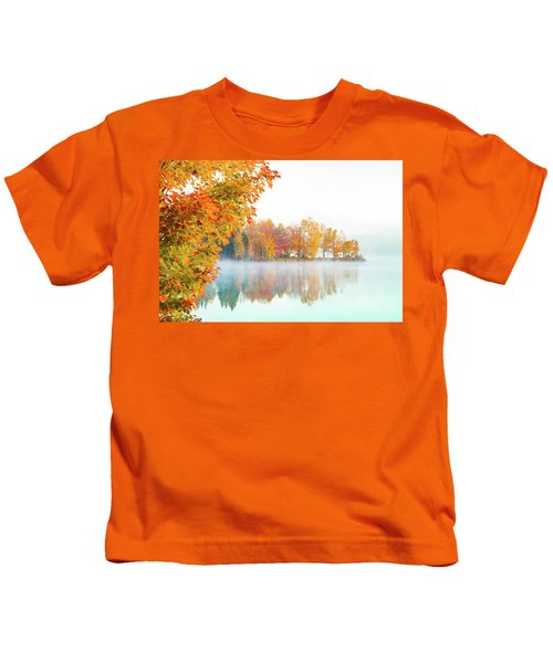 New England Fall Colors Of Maine Kids T-Shirt