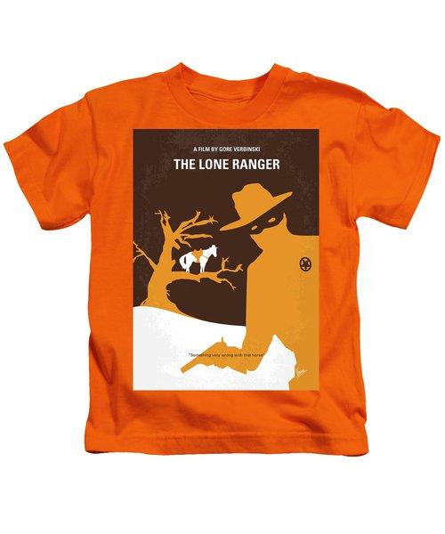 No202 My The Lone Ranger Minimal Movie Poster Kids T-Shirt by Chungkong Art