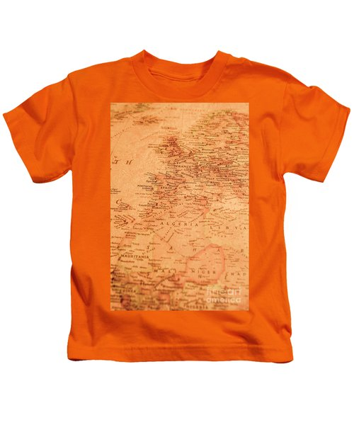 Old Maritime Map Kids T-Shirt