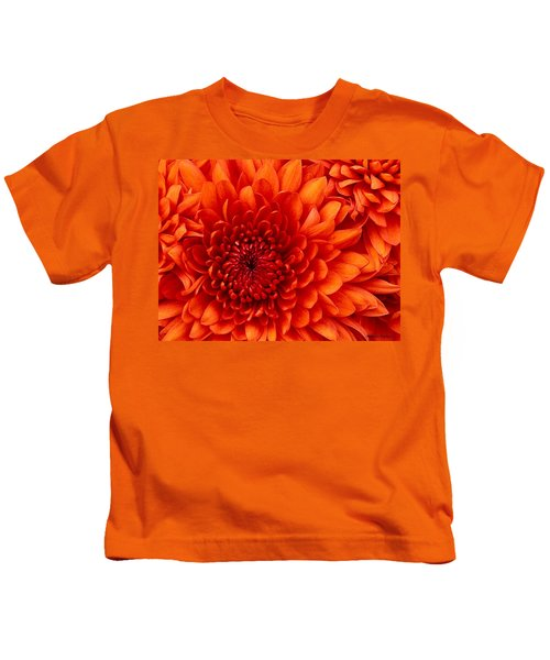 Kids T-Shirt featuring the photograph Orange Bloom by Marian Palucci-Lonzetta