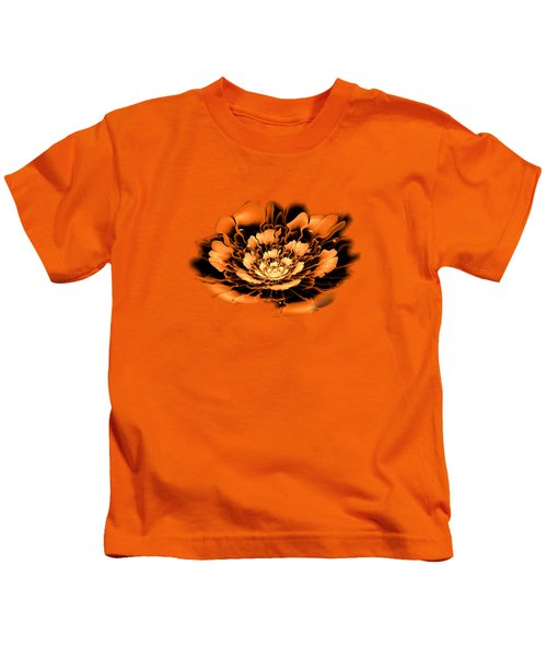 Orange Flower  Kids T-Shirt