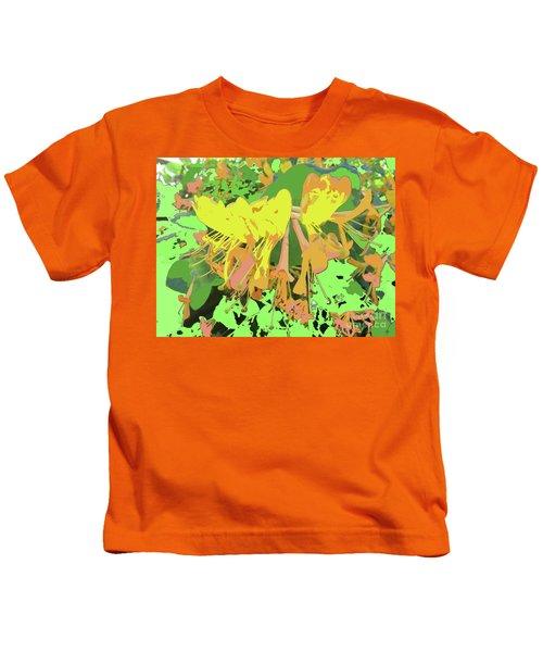 Orange Flowers By M.l.d. Moerings 2015 Kids T-Shirt