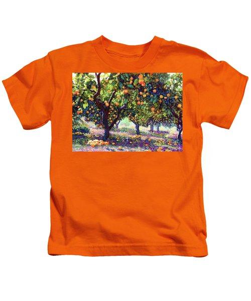 Orange Grove Of Citrus Fruit Trees Kids T-Shirt