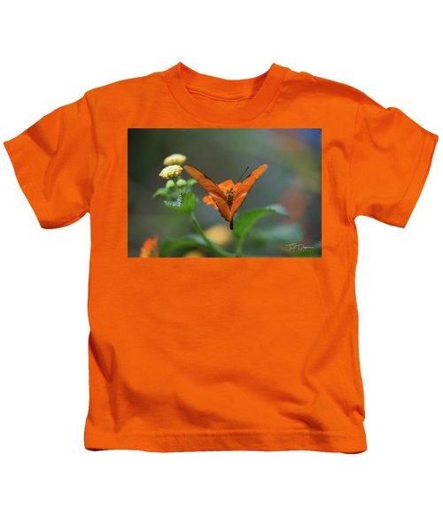 Orange Is The New Butterfly Kids T-Shirt