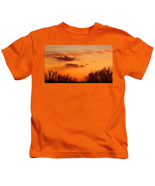 Orange Sky At Night Kids T-Shirt