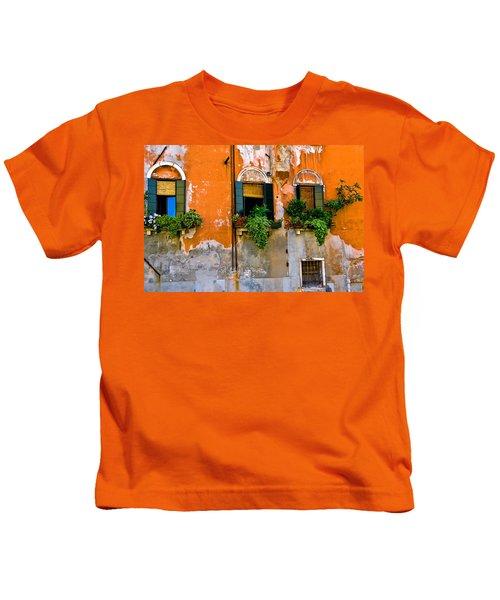 Orange Wall Kids T-Shirt