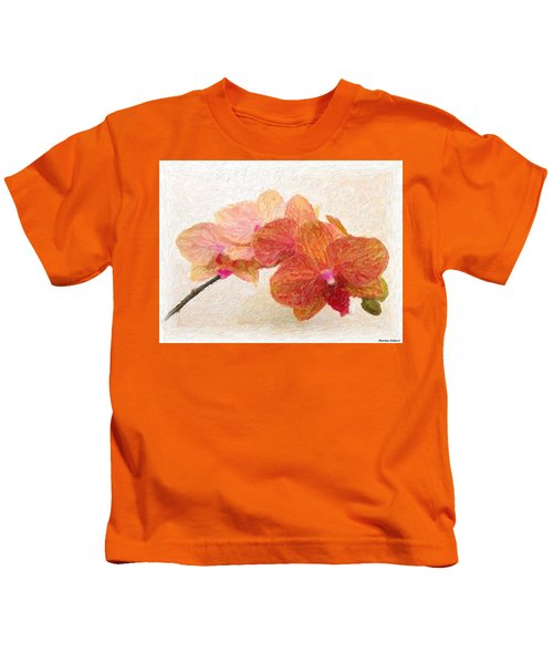 Kids T-Shirt featuring the painting Orchid Beauty by Marian Palucci-Lonzetta