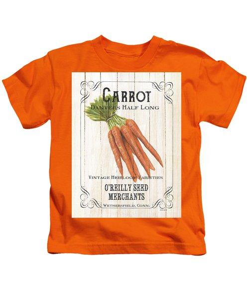 Organic Seed Packet 2 Kids T-Shirt by Debbie DeWitt