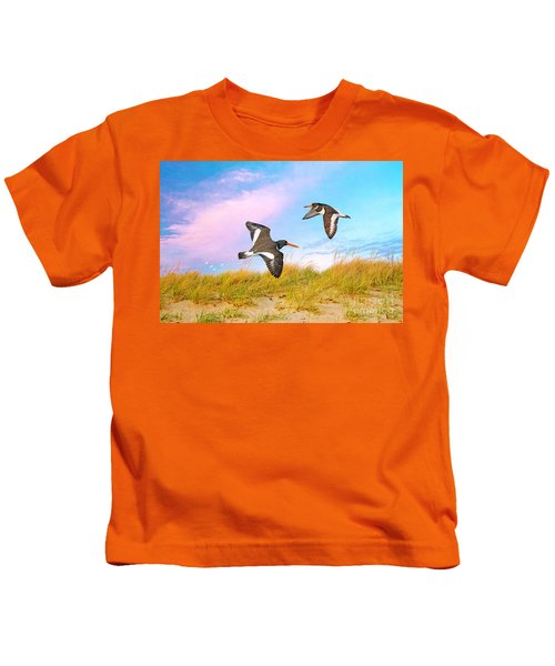 Oystercatchers On Patrol Kids T-Shirt