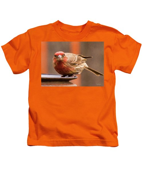 Painted Male Finch Kids T-Shirt