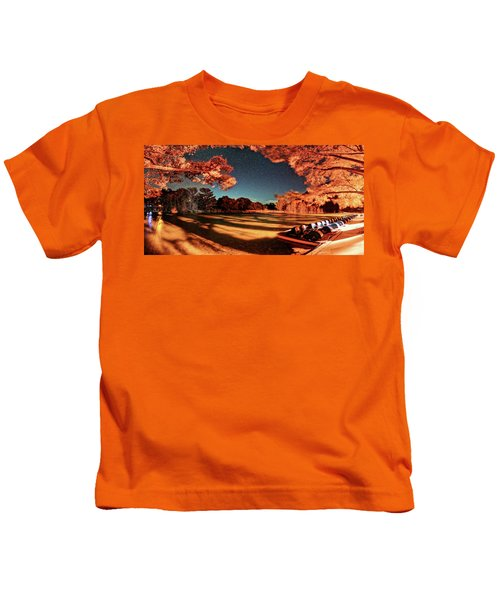 Panorama Of A Starry Night Over The Frio River - Garners State Park - Texas Hill Country Kids T-Shirt