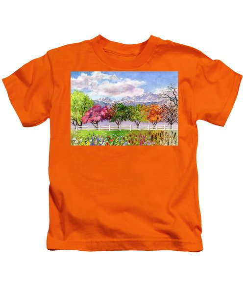 Parade Of The Seasons Kids T-Shirt