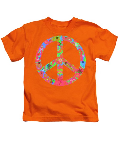 Peace Kids T-Shirt by Linda Lees