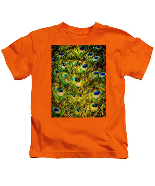 Peacock Tails Kids T-Shirt
